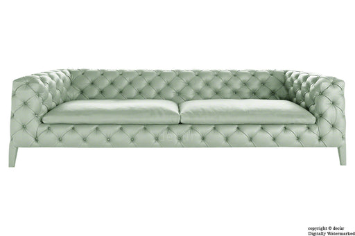 Rochester Leather Chesterfield Sofa - Clover Leaf