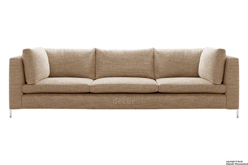 Olivia Linen Sofa - Chocolate