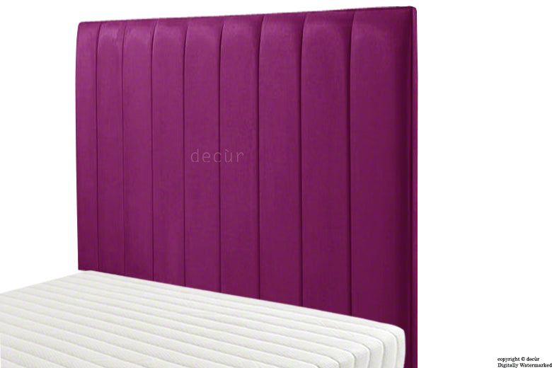 Petra Velvet Headboard - Boysenberry