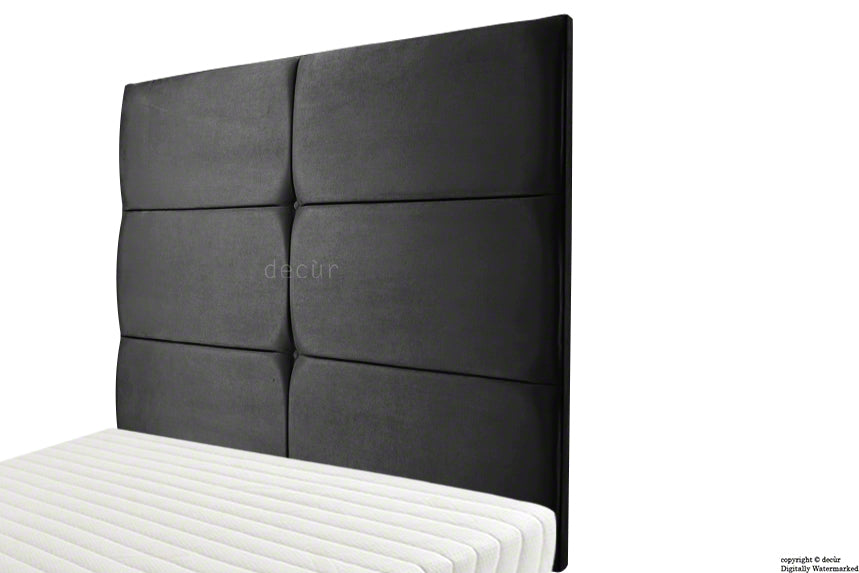 Bardi Wall High Velvet Headboard - Cosmic Black