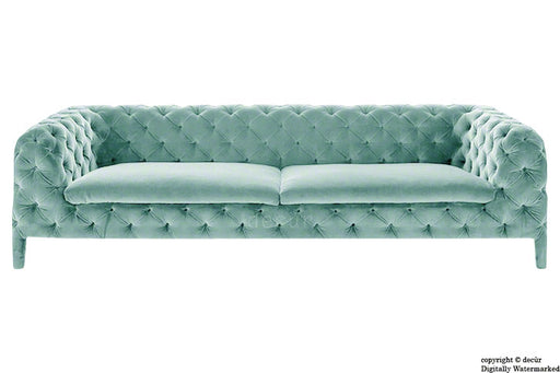 Rochester Chesterfield Velvet Sofa - Seaspray