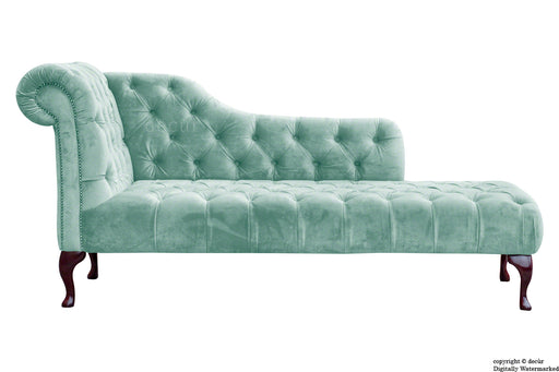 Paloma Velvet Chaise Lounge - Seaspray