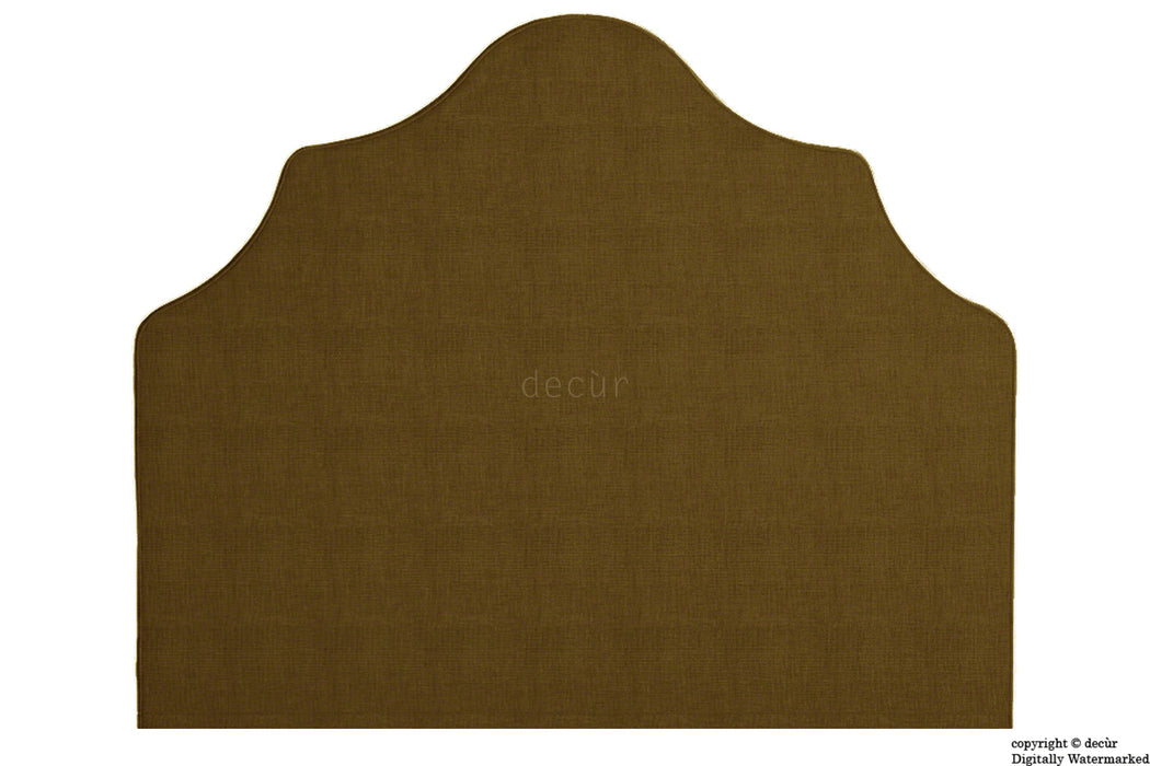 Elizabeth Wall Mounted Tall Headboard - Coffee