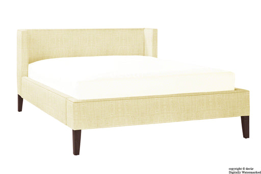 Banbury Linen Upholstered Bed - Pearl