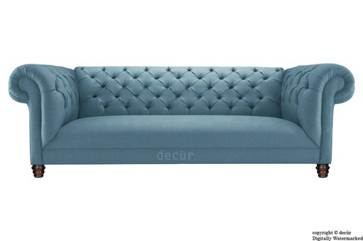 Albert Chesterfield Linen Sofa - Denim