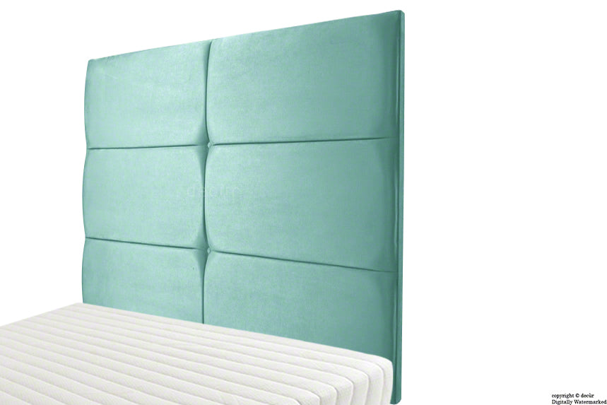 Bardi Wall High Velvet Headboard - Seaspray