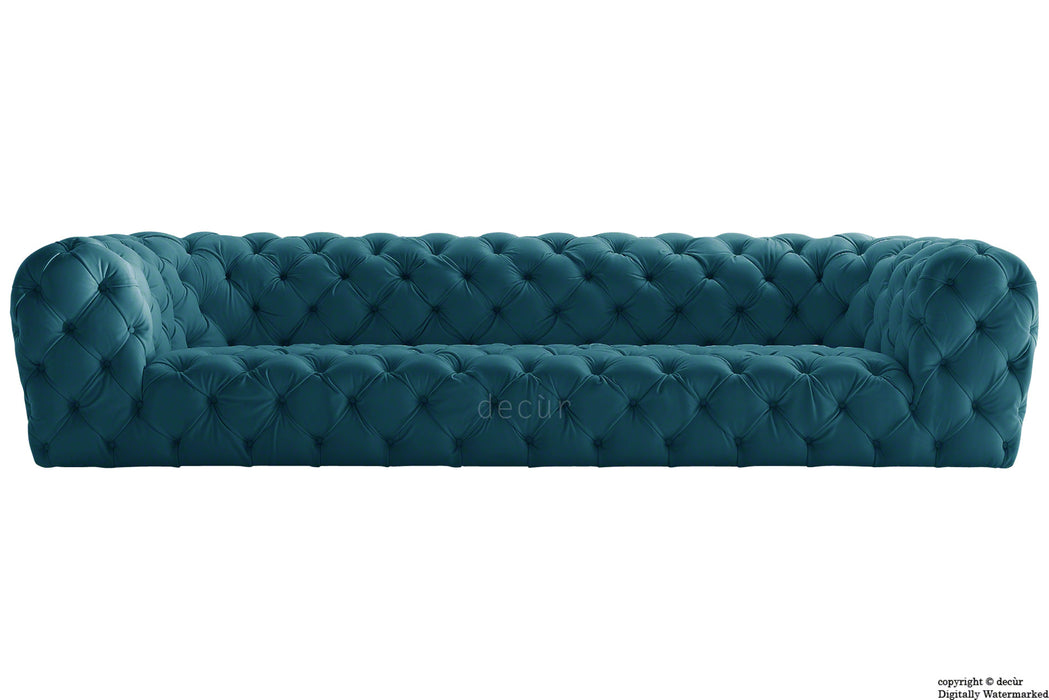 Charles Velvet Chesterfield Sofa - Peacock