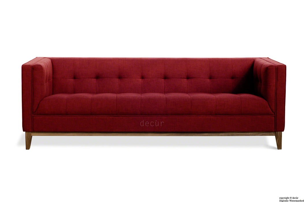The Fifty Nine Linen Sofa - Red