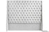Abbingdon Buttoned Winged Velvet Headboard - Silver