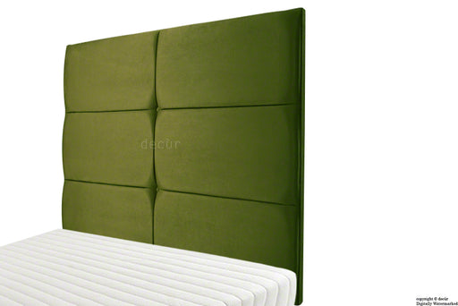 Bardi Wall High Velvet Headboard - Grass