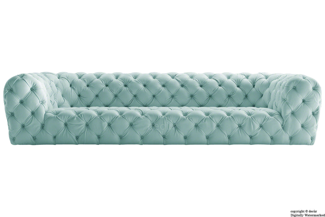 Charles Velvet Chesterfield Sofa - Seaspray