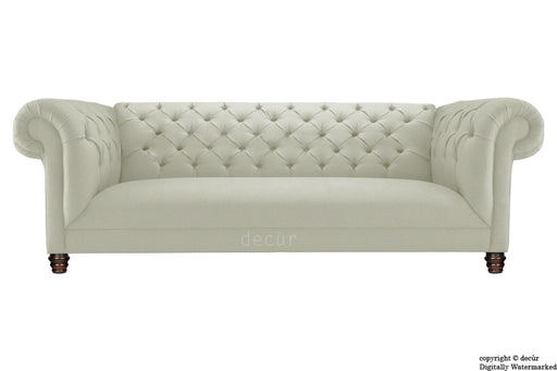 Albert Chesterfield Linen Sofa - Mink