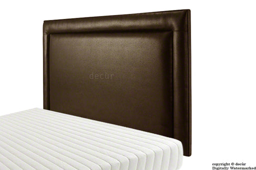 Marcella Wall High Faux Leather Headboard - Brown