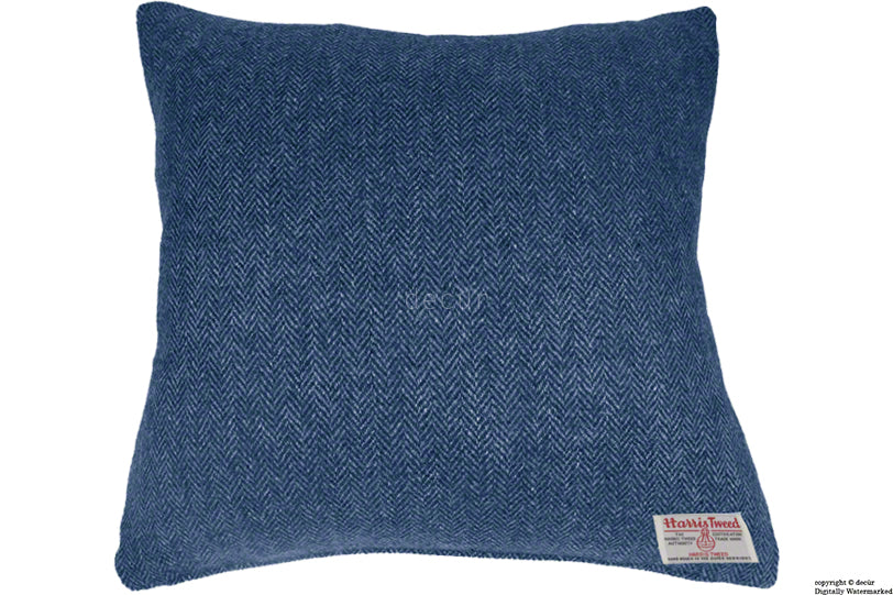 Harris Tweed Herringbone Cushion - Ocean Spray