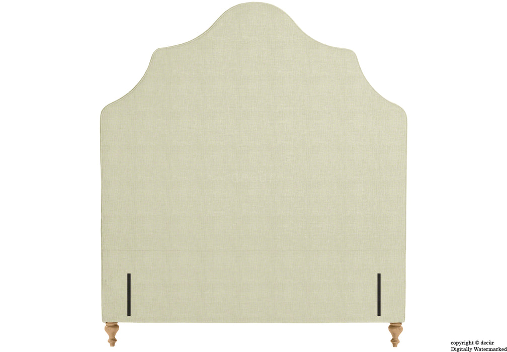 Elizabeth Floor Standing Headboard On Turned Wooden Legs - Cream