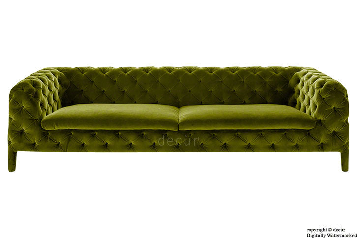 Rochester Chesterfield Velvet Sofa - Grass