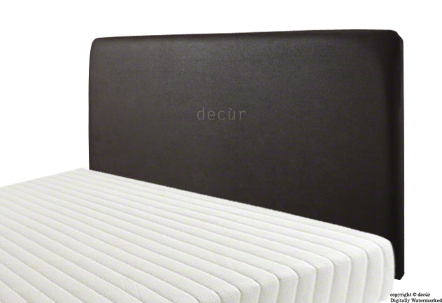 Newark Faux Leather Headboard - Black