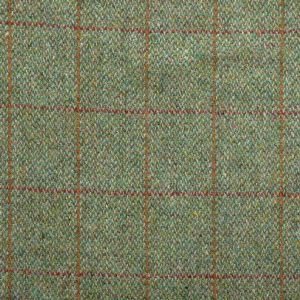 Harris Tweed Huntsman Check Fabric - Mountain Bracken