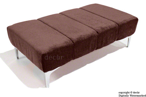Abi Footstool - Brown with Optional Storage