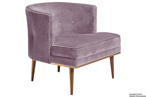 Tomas Scandinavian Velvet Arm Chair - Lavender