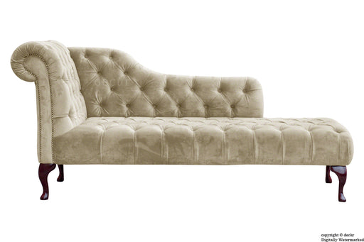 Paloma Velvet Chaise Lounge - Putty