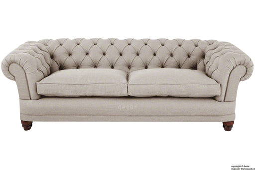 Abbotsford Linen Chesterfield Sofa - Linen