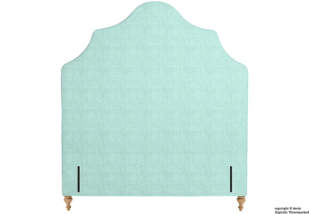 Elizabeth Floor Standing Headboard On Turned Wooden Legs - Sky Duck Egg Blue