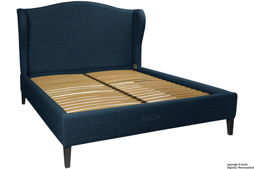 Regency Linen Winged Bed - Midnight