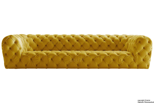 Charles Velvet Chesterfield Sofa - Gold