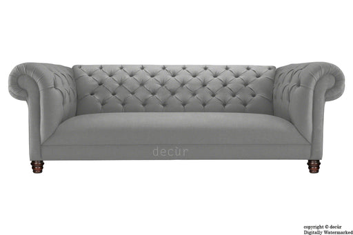 Albert Chesterfield Linen Sofa - Grey