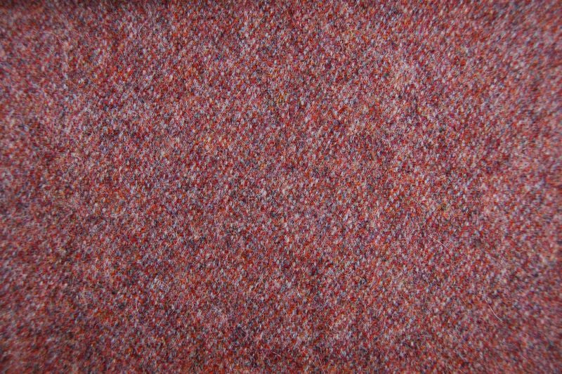 Elgar Wool Plain Tweed - Rhubarb