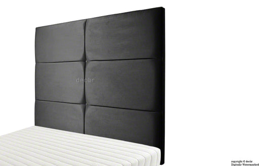Bardi Wall High Faux Suede Headboard - Black