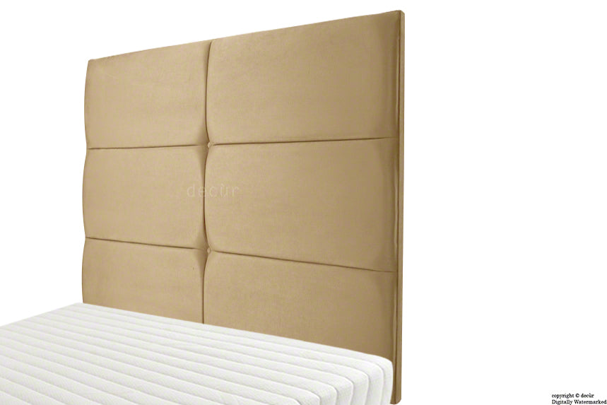 Bardi Wall High Velvet Headboard - Parchment