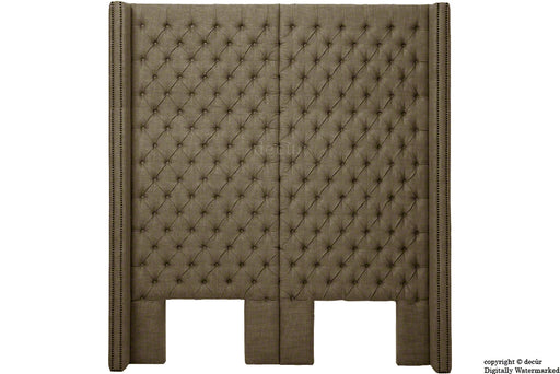 Beauchamp Buttoned Courtyard Linen Headboard Nutmeg