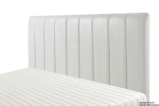 Columbia Faux Leather Headboard - White