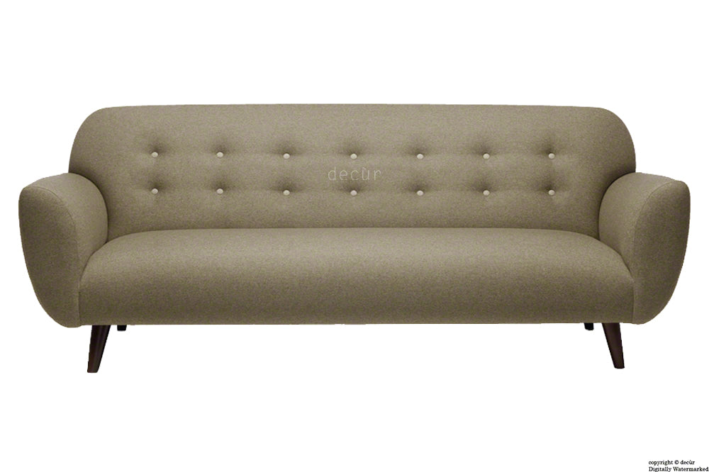 The Tomas Linen Sofa - Chocolate