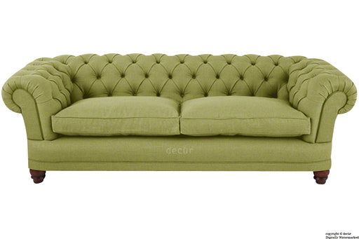 Abbotsford Linen Chesterfield Sofa - Apple