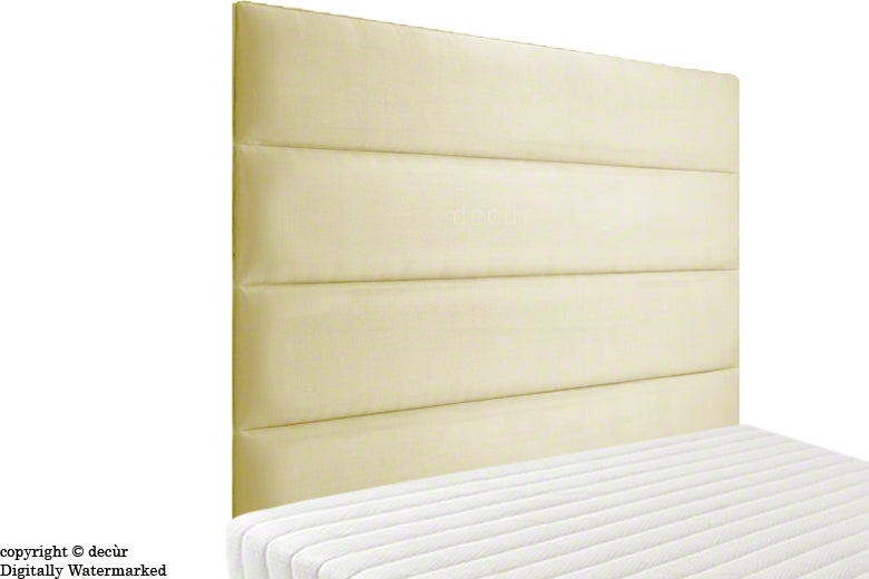 Boston Faux Suede Headboard - Natural