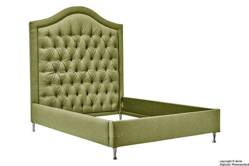 Harrogate Upholstered Tweed Wool Bed - Cardamom