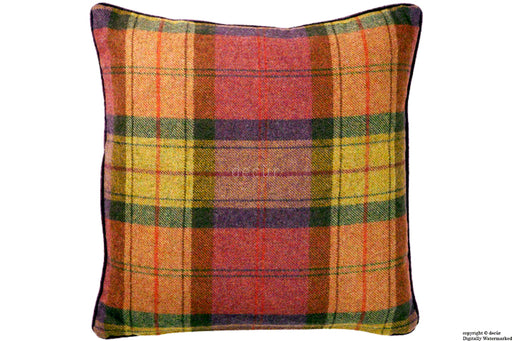 Wool Plaid Tweed Cushion - Fruit Salad 45 CM SALE