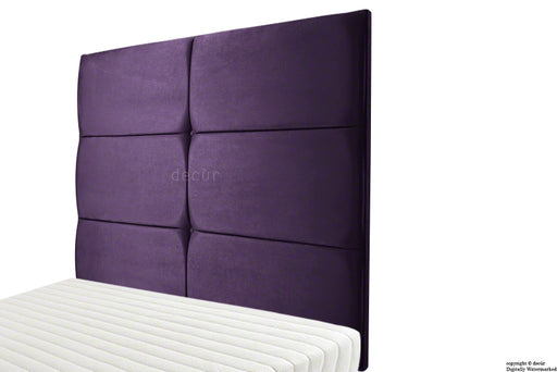 Bardi Wall High Velvet Headboard - Amethyst