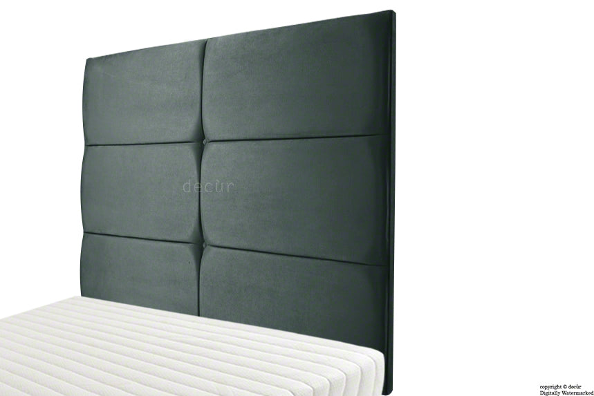 Bardi Wall High Velvet Headboard - Slate Grey