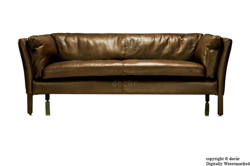 Savoy Leather Sofa - Chocolate