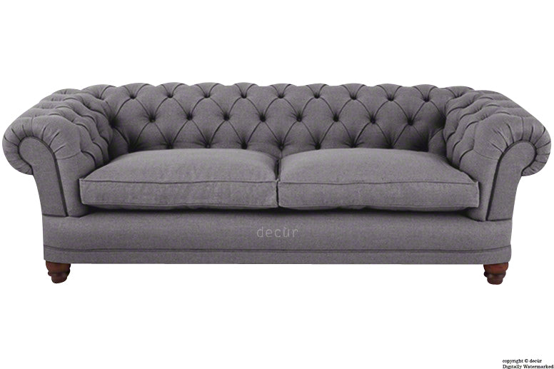 Abbotsford Linen Chesterfield Sofa - Mauve