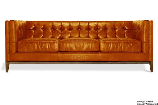 Mayfair Leather Sofa - Outback Tan