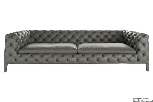 Rochester Leather Chesterfield Sofa - Gun Metal Grey