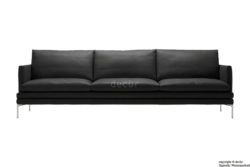 Notting Hill Leather Sofa - Black