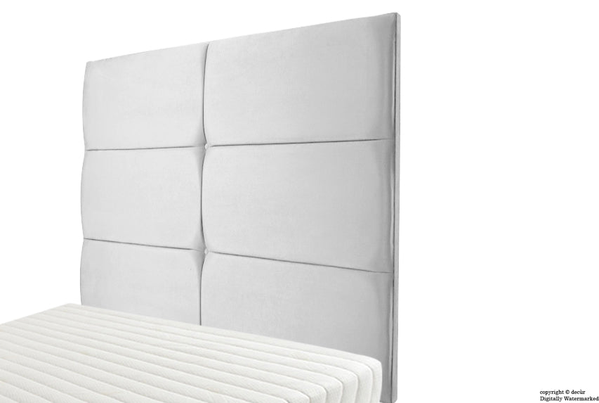 Bardi Wall High Velvet Headboard - Silver