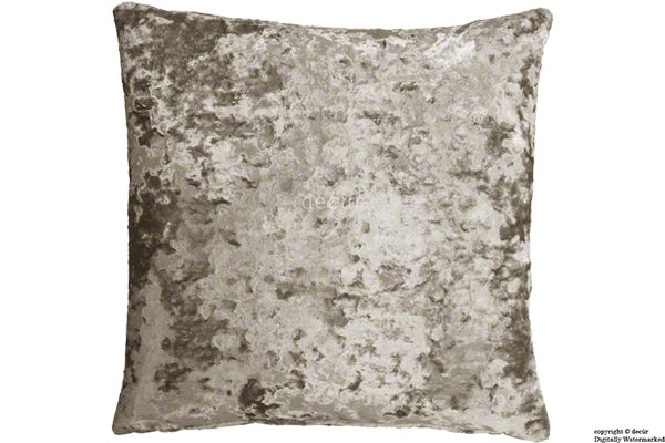London Crushed Velvet Cushion - Jade