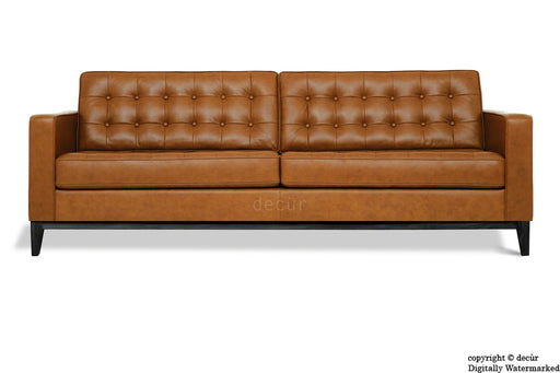 Jasper Leather Sofa - Tan